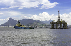 Odwierty naftowe takielunek Zdjęcie Stock