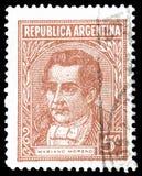Odwoływający znaczek pocztowy drukujący Argentyna zdjęcie royalty free