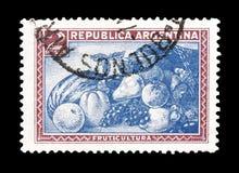 Odwoływający znaczek pocztowy drukujący Argentyna zdjęcia royalty free