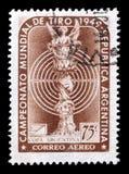 Odwoływający znaczek pocztowy drukujący Argentyna zdjęcie stock