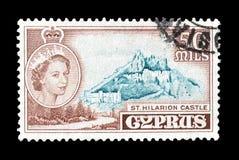 Odwoływający znaczek pocztowy drukujący Cypr fotografia stock