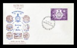 Odwoływający znaczek pocztowy drukujący India obraz stock