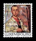 Odwoływający znaczek pocztowy drukujący Luksemburg obrazy royalty free