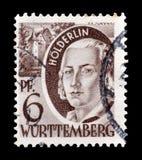 Odwoływający znaczek pocztowy drukujący Niemcy fotografia stock