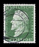Odwoływający znaczek pocztowy drukujący Niemcy obrazy royalty free