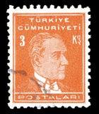 Odwoływający znaczek pocztowy drukujący Turcja zdjęcie stock