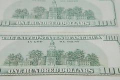 Odwrotna strona Amerykańscy dolary bill tła dolara zdjęcie royalty free
