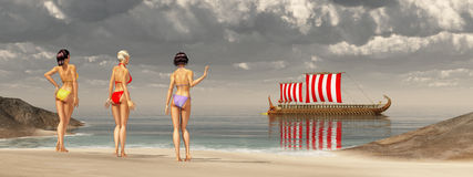 Odysseus στις σειρήνες Στοκ Φωτογραφίες