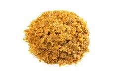 Odżywczy drożdże stos, odosobniony na bielu (Saccharomyces cerevisiae) Obrazy Royalty Free