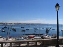łodzi cais Portugal Zdjęcie Stock
