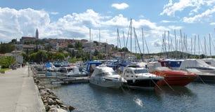 łodzi Croatia portowy vrsar Zdjęcia Royalty Free