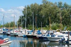 łodzi marina Obraz Royalty Free