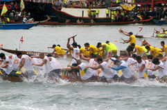 łodzi paddle uczestnicy ich Zdjęcie Stock