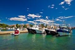 Łodzi rybackiej flota w Zadar schronieniu Obraz Royalty Free