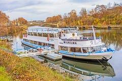 Łodzi, statku MS Wilhelma/, Stuttgart Fotografia Stock
