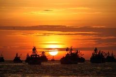 łodzi target1502_1_ Fotografia Royalty Free