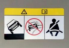 Odzież pasów bezpieczeństwa znak Obraz Stock