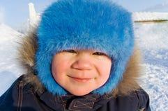 odzieżowa chłopiec zima Fotografia Royalty Free