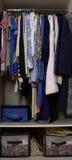 Odzieżowa szafa obrazy stock