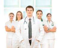 odzieżowe caucasian lekarki zespalają się biały potomstwa Zdjęcie Royalty Free