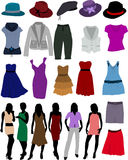 odzieżowe kobiety royalty ilustracja