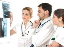 odzieżowego zaopatrzenia medycznego biały pracownicy młodzi fotografia stock