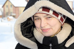 odzieżowej dziewczyny roześmiana portreta zima Zdjęcie Stock