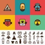 Odzieżowy rocznik Przylepia etykietkę loga wektorowy projekt Moda ilustracji