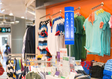 Odzieżowy sklep Zdjęcia Stock
