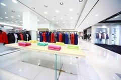 odzieżowy wielki męski sklep Fotografia Stock
