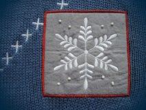 Odzieży aplikacja - płatek śniegu Zdjęcia Royalty Free