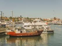 Łodzie i jachty w Punta Del Este porcie Zdjęcie Royalty Free
