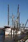 łodzie krewetkowe Zdjęcia Stock