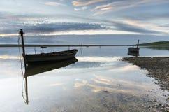 Łodzie na floty lagunie Obraz Royalty Free