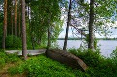 Łodzie na jeziorze Zdjęcia Stock