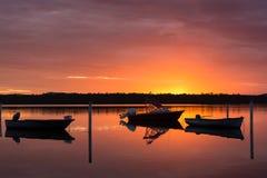 Łodzie na jeziorze Fotografia Stock