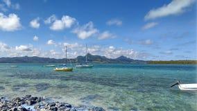 Łodzie na Mauritius obraz royalty free