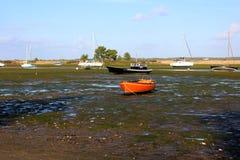 Łodzie na morzu Zdjęcia Royalty Free