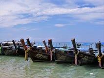 Łodzie od Phi phi wyspy Obrazy Royalty Free