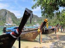 Łodzie od Phi phi wyspy Fotografia Stock