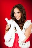 odzieżowa Claus kobieta Santa zdjęcia stock