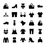 Odzieżowe Wektorowe ikony 2 Zdjęcia Royalty Free