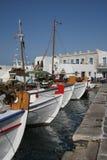 łodzie ryb paros Greece Zdjęcia Royalty Free