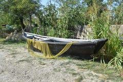 Łodzie rybackie i sieci Zdjęcia Stock