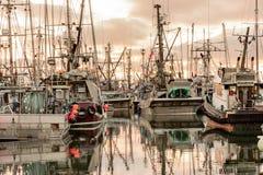 Łodzie rybackie przy marina Zdjęcie Stock