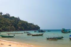 Łodzie rybackie Quoc, Wietnam Obrazy Royalty Free