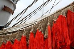 Łodzie rybackie, sieci i olinowanie Zdjęcia Royalty Free