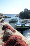 Łodzie rybackie w Gaou, Six-Fours, Francja Obrazy Royalty Free