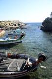 Łodzie rybackie w Gaou, Six-Fours, Francja Zdjęcia Stock