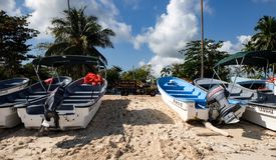 Łodzie rybackie w Karaiby Obrazy Stock